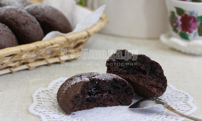 рецепт шоколадного печенья с джемом