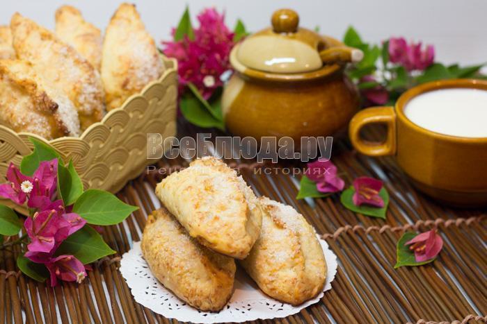 рецепт яблочных пирожков и сырного теста