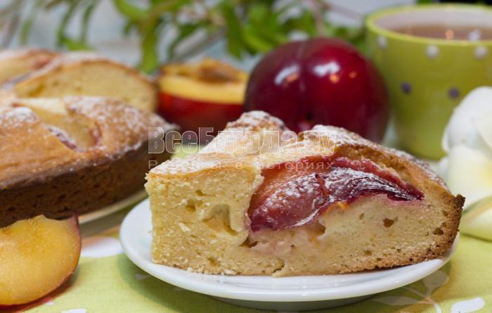 вкусный пирог со сливами, рецепт с фото