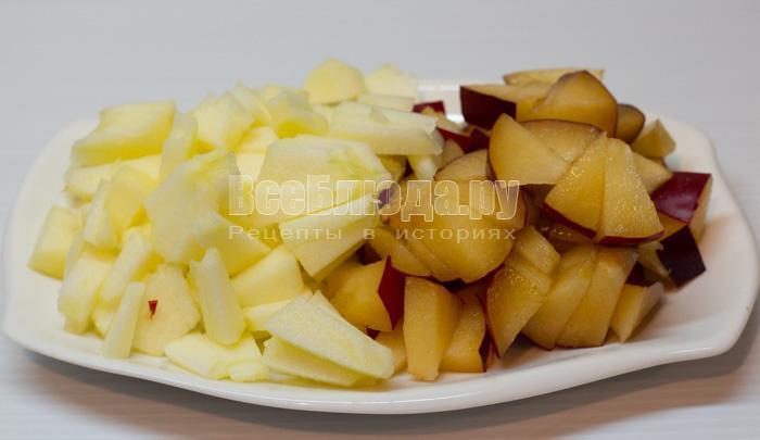 порезать фрукты