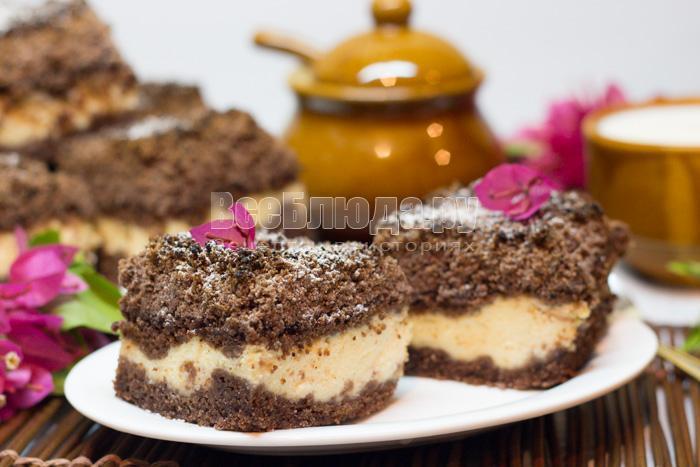 рецепт творожного торфяного пирога