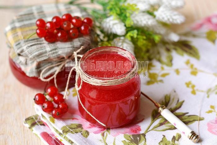 холодное варенье из красной смородины на зиму