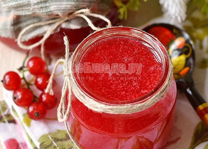 рецепт перетертой красной смородины с сахаром на зиму