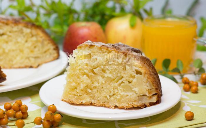 рецепт манника с яблоками