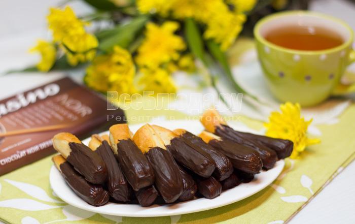 печенье шоколадные палочки
