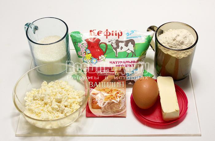 ингредиенты для маффинов из творога