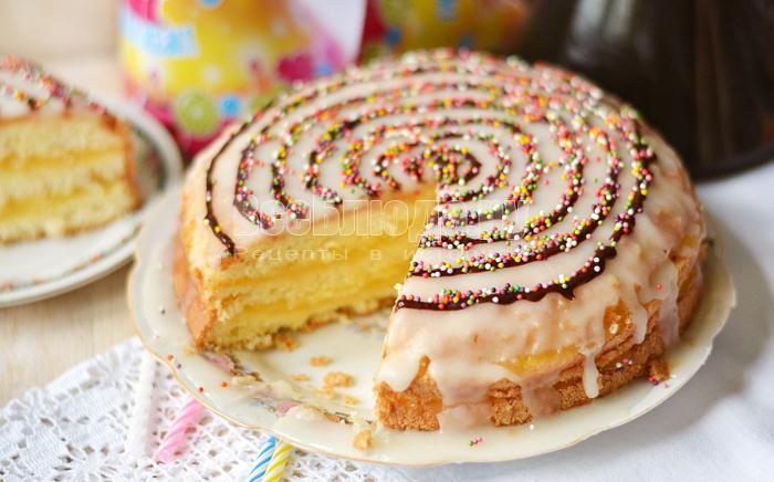 рецепт бисквитного торта с лимонным кремом