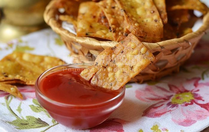 Чипсы без масла , пошаговый рецепт с фото