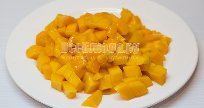 порезать манго