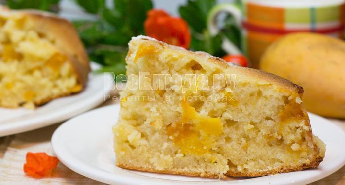 манный пирог с манго, рецепт с фото