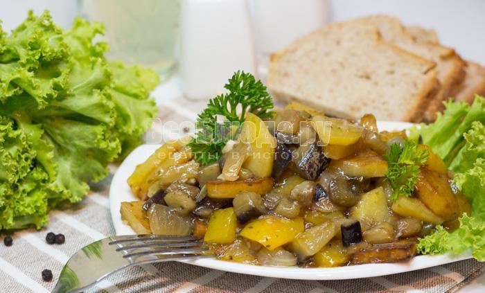 как приготовить чисанчи, картошку с баклажанами