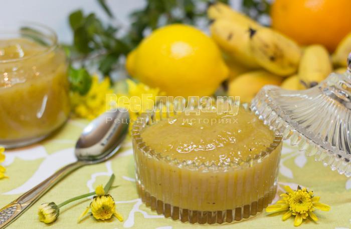 рецепт джема из бананов с фото