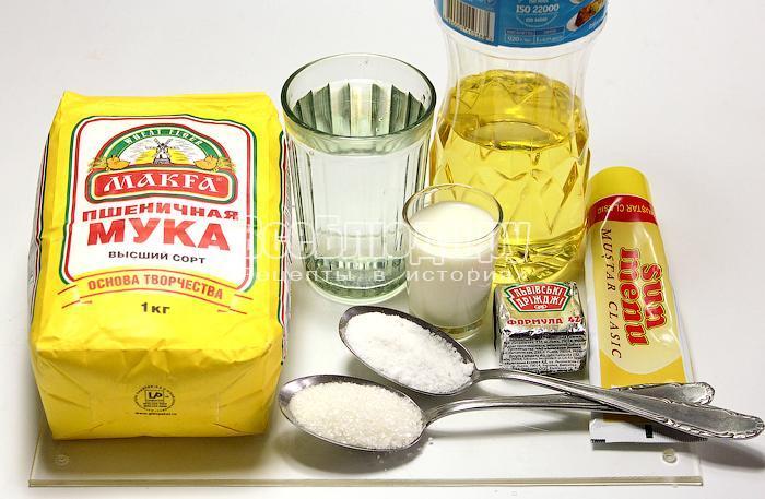 ингредиенты для горчичного хлеба