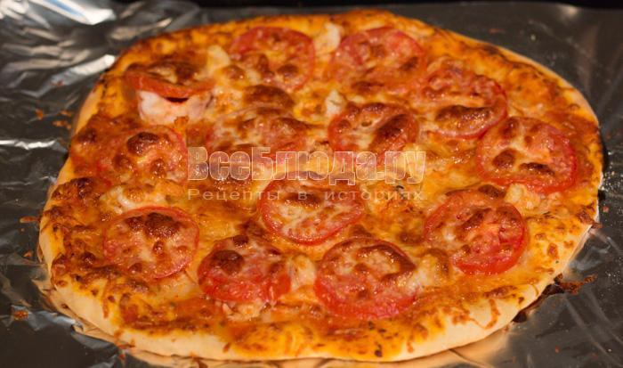 запекать пиццу в духовке