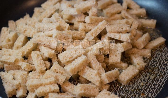 выложить хлеб в масло