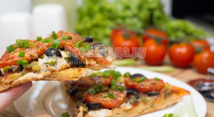 кусочек пиццы из куриного филе