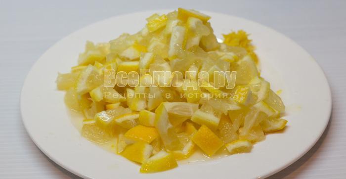 порезать лимон