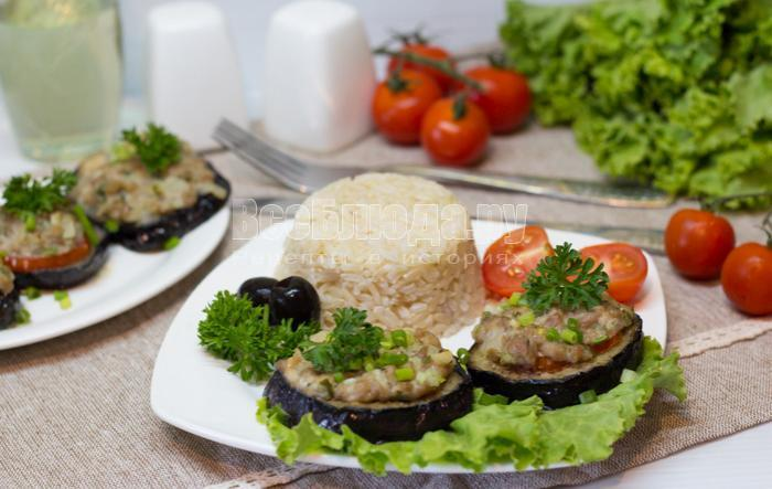 рецепт баклажанов с фаршем