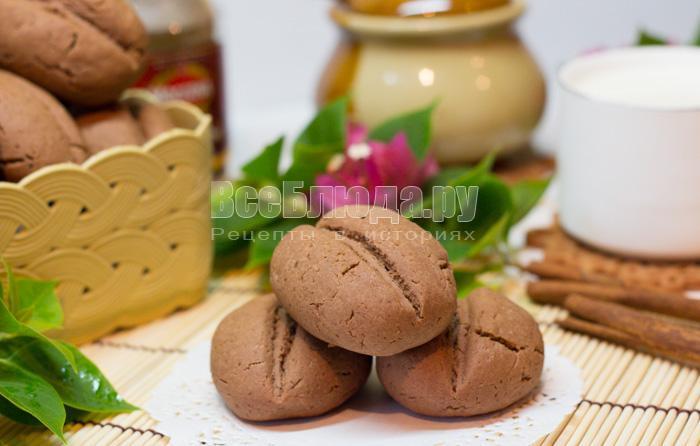 как испечь печенье в виде кофейных зерен