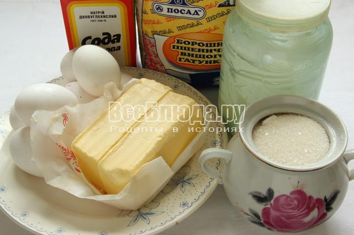 продукты для торта Микадо