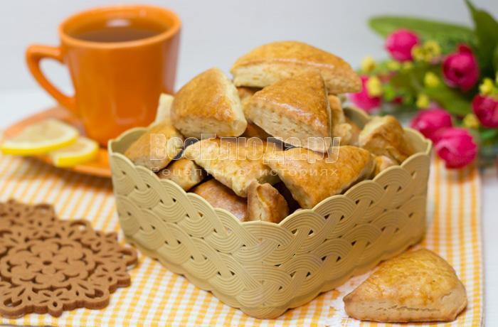 как приготовить постное печенье на рассоле без яиц