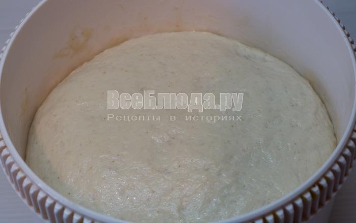 готовое дрожжевое тесто на закваске