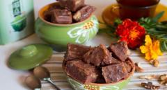 Шоколадный щербет с орешками
