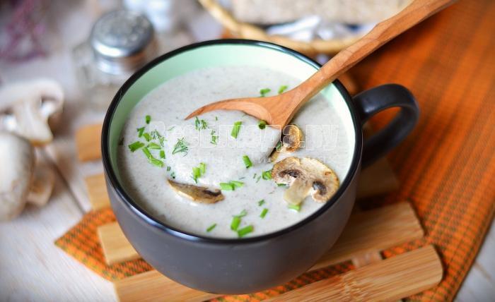 рецепт крем супа с шампиньонами