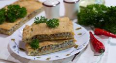 Закусочный пирог с сайрой (рыбная консерва)...
