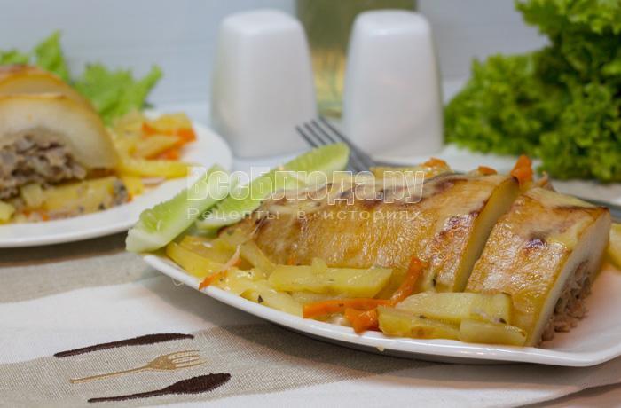 рецепт фаршированного кабачка