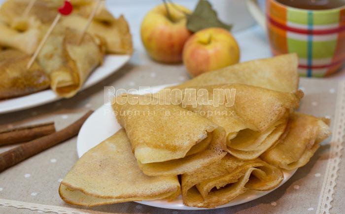 рецепт яблочных блинов на закваске