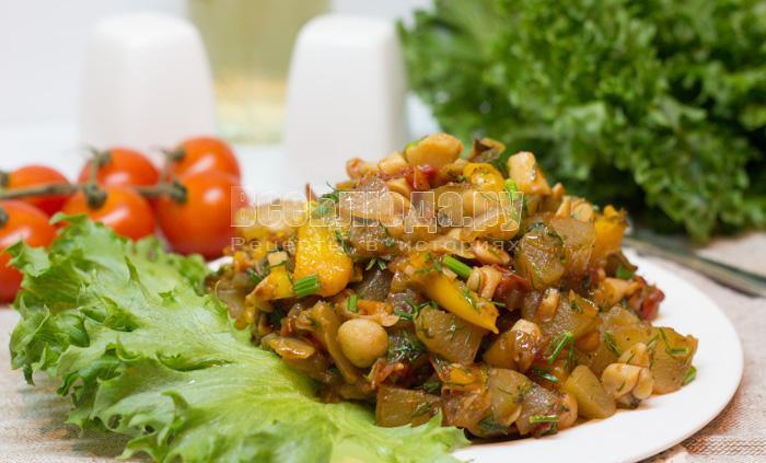рецепт кабачков с помидорами, болгарским перцем