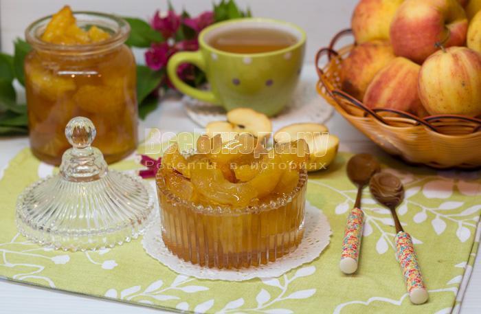варенье яблочные дольки готово