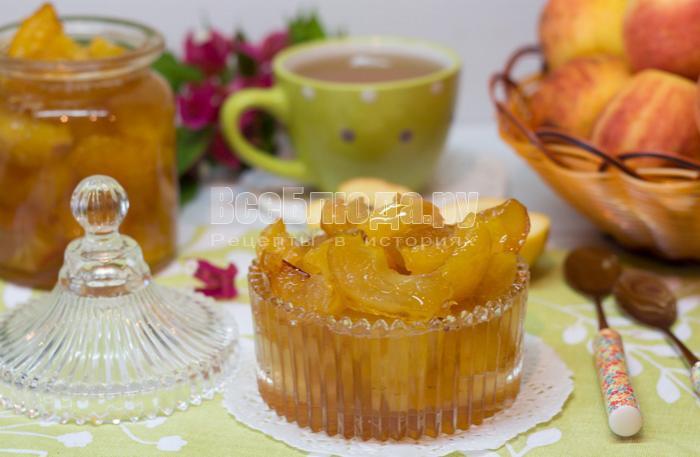 рецепт варенья яблочные дольки
