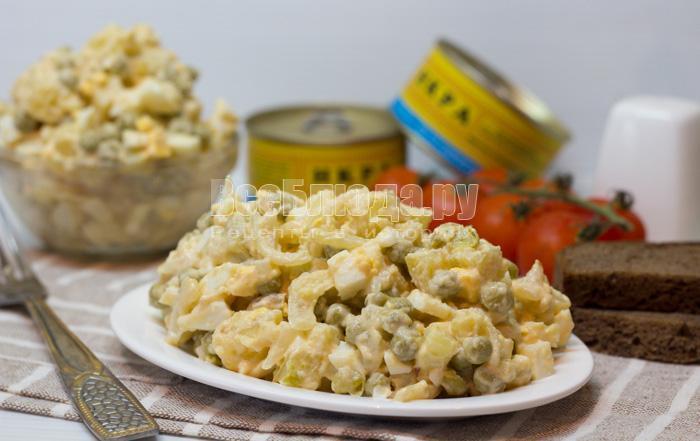 рецепт салатика с соленой икрой минтая