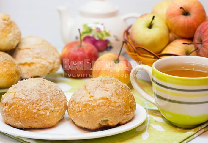 рецепт печенья румяные щечки с яблоками
