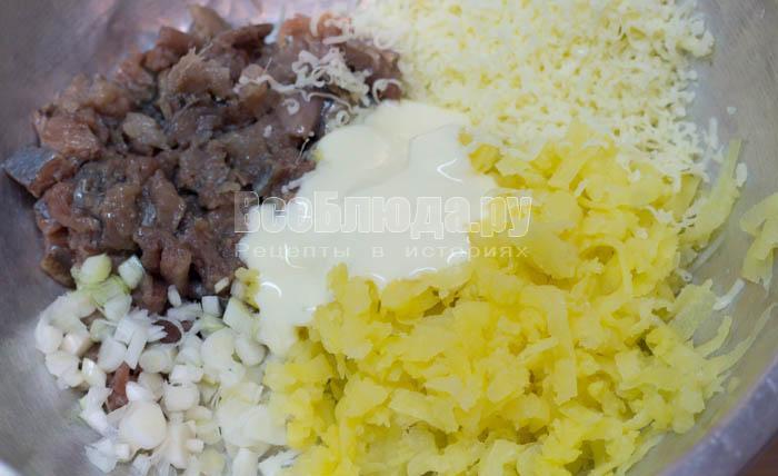 порезать все продукты, селедку и картошку