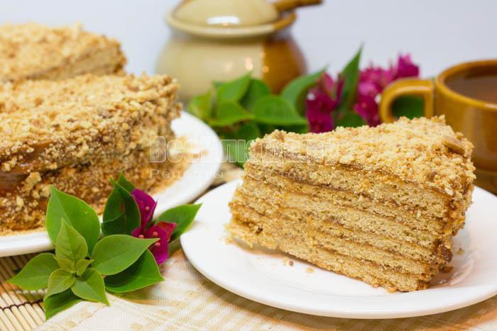 Медовый торт рецепт с пошаговым с сгущенкой