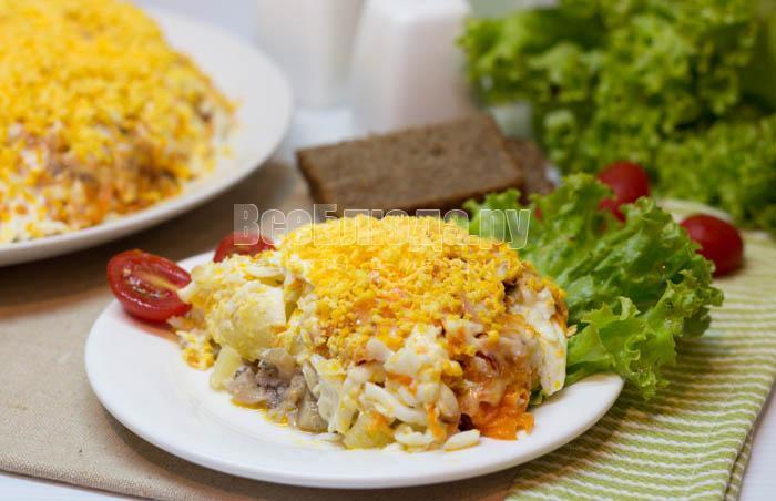 как приготовить салат селедку под шубой с морковкой