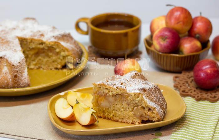 как приготовить пирог с яблоками и овсянкой
