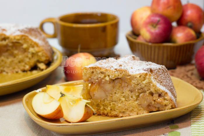 рецепт яблочного пирога с овсяными хлопьями