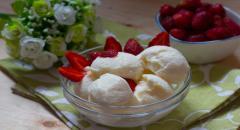 Мороженое из сливок и сгущенного молока без яиц