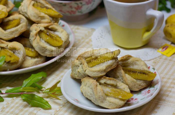 рецепт печенья на сметанке с бананами
