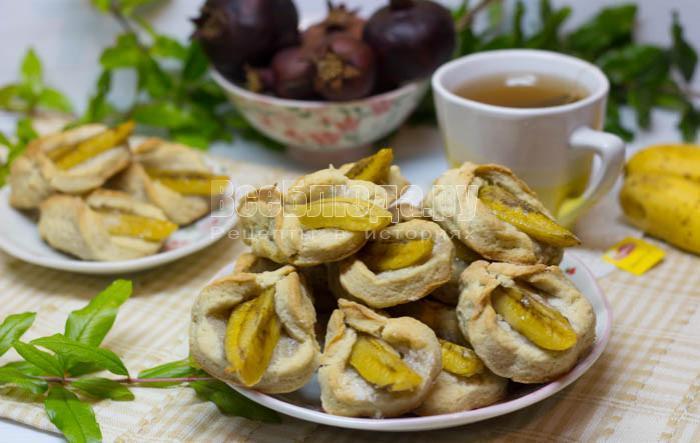 тесто для бананового печенья на сметане