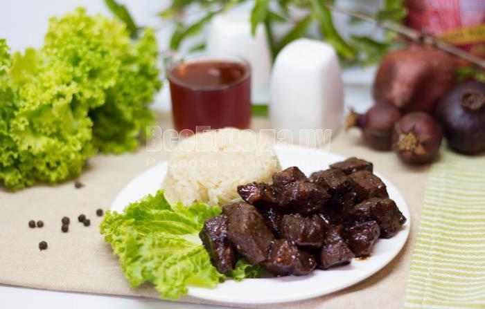 мясо в горчично медовом соусе в духовке рецепт