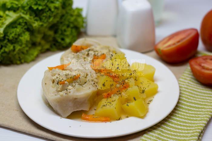 рецепт приготовления картошки с фаршем и тестом