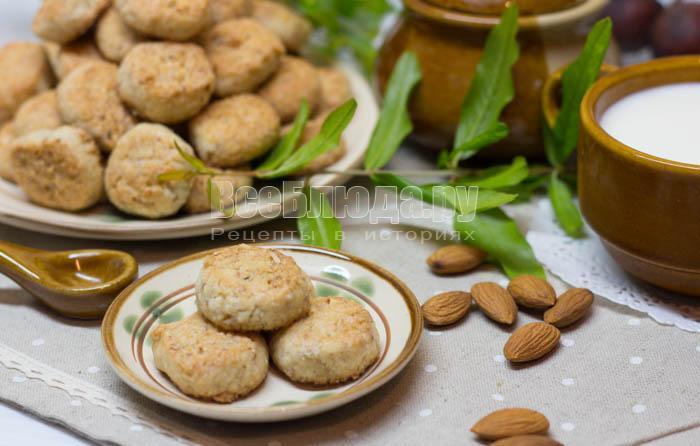 рецепт печенья с перемолотым миндалем
