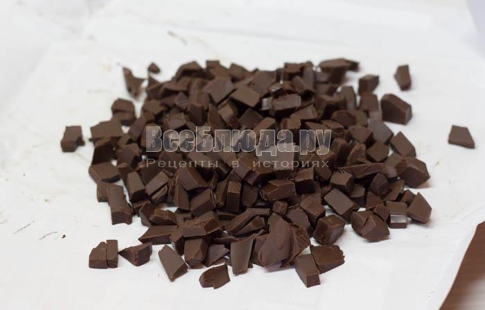 порезать шоколад