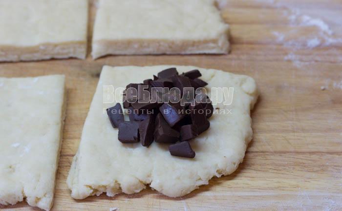 выложить шоколад