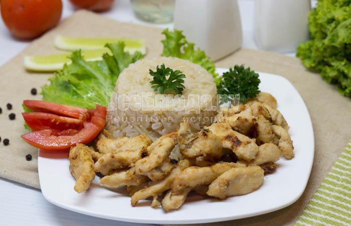 Куриное филе в медово-горчичном маринаде